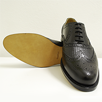Men's shoe leather sharkskin